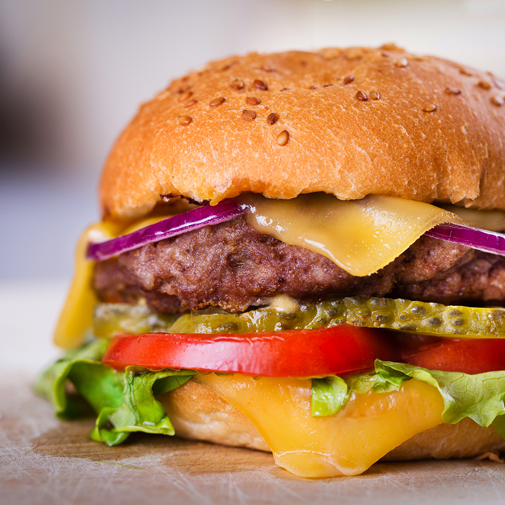 Ohio Burger - 1/2 lb certified angus beef and your choice of cheese on a brioche bun
