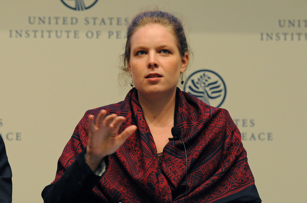 "Speaking on a panel at the event ""Sifting Fact from Fiction: The Role of Social Media in Conflict"" at the United State Institute of Peace  (Washington DC, 2011)"