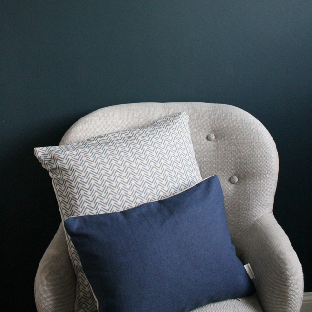 1. Home Comforts - Take the chill off and fall back into one of our gorgeous cushions. Each one is handmade by us in Britain and filled with a 100% duck feather pad. Making your cushions incredibly soft and looking plump!(Featuring our Nancy Blue square cushion & Admiral Blue rectangular cushion)