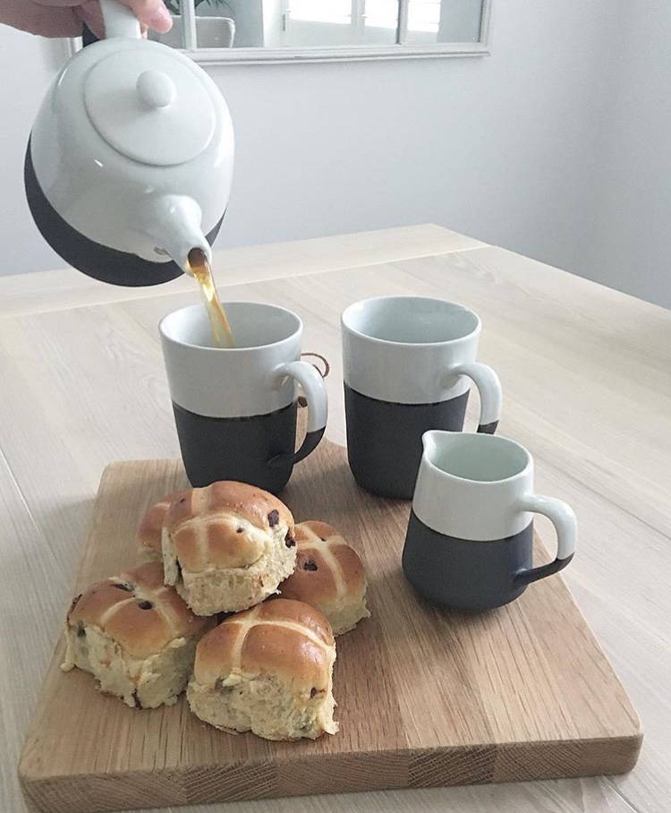 A Treat For You - Before the little ones have fun participating in Easter activities - take some time out and indulge in some hot cross buns, which are a staple over the Easter period. Why not pour yourself a pot of tea from one of our gorgeous teapot sets. All designed in Denmark and each piece is handmade. A perfect example of Scandinavian design at its finest.
