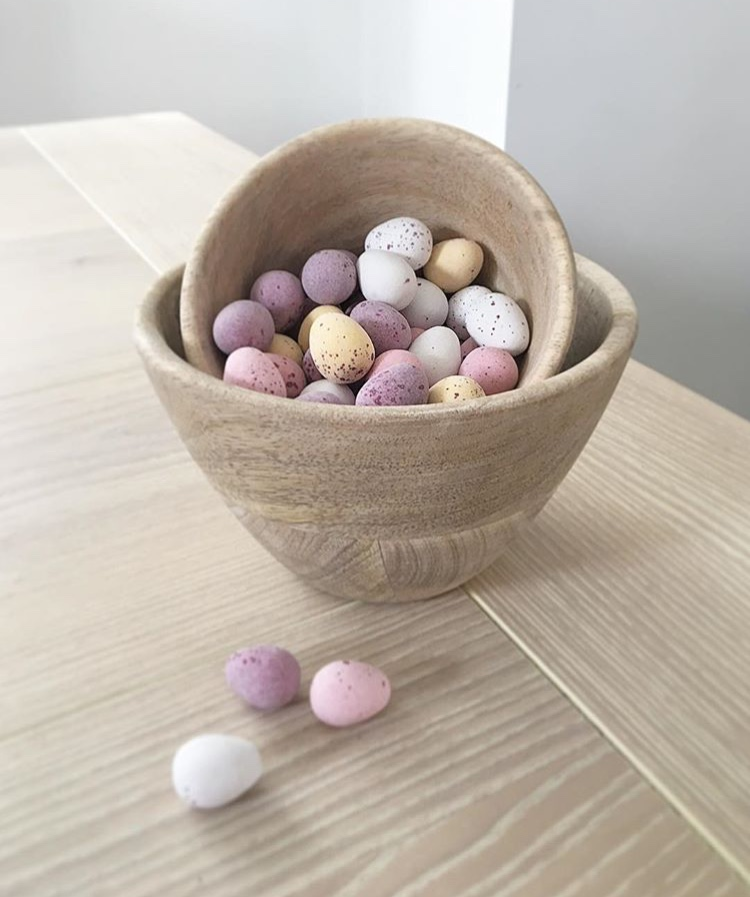 Artisan Mango Wood Nibble Bowls - Two sizes available