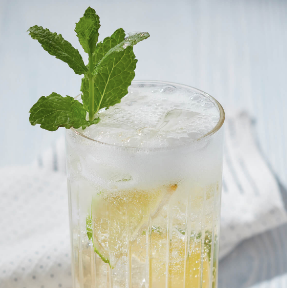Wild MintCollins - Ingredients:12 fresh mint leaves2 shots Sipsmith gin1 shot freshly squeezed lemon juice1/2 shot Monin pure cane 2:1 sugar syrupTop up with sodaIce (optional)Method:Lightly muddle (just to bruise)mint in base of a shaker. Add the next three ingredients, shake with ice and fine strain into a chilled glass. Top with soda, lightly stir and serve with a sprig of mint.