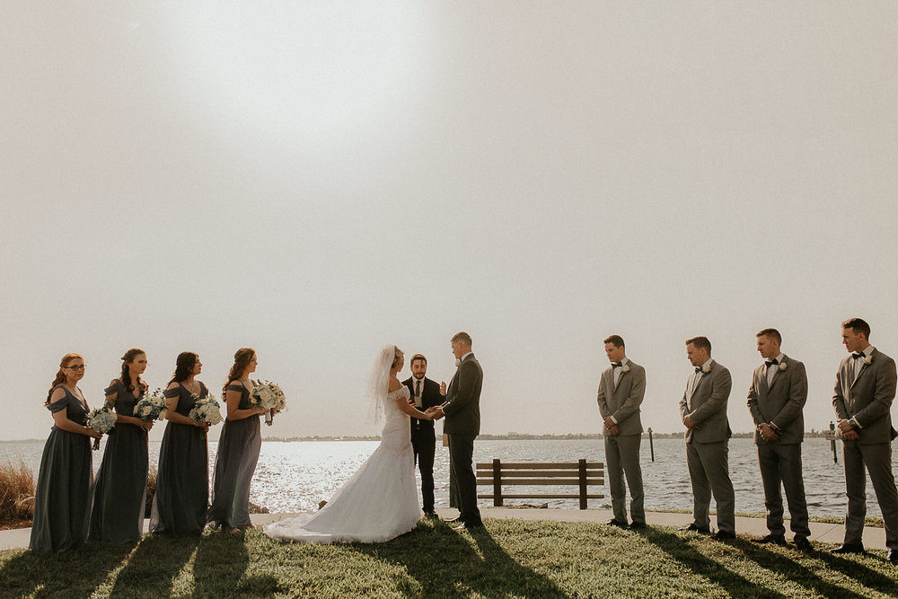 There ceremony took place at 2 pm. Which was the brightest time of the day and created major shadows.