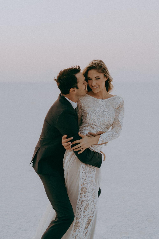 Bonneville Salt Flats Elopement- Utah Elopement Adventurous Wedding Photographer-97.jpg
