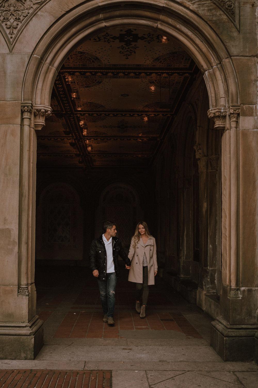New York Engagement Photos- Bethesda Terrace- Central Park- Michelle Gonzalez Photography-136.JPG
