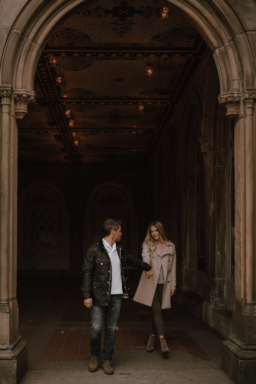 New York Engagement Photos- Bethesda Terrace- Central Park- Michelle Gonzalez Photography-138.JPG