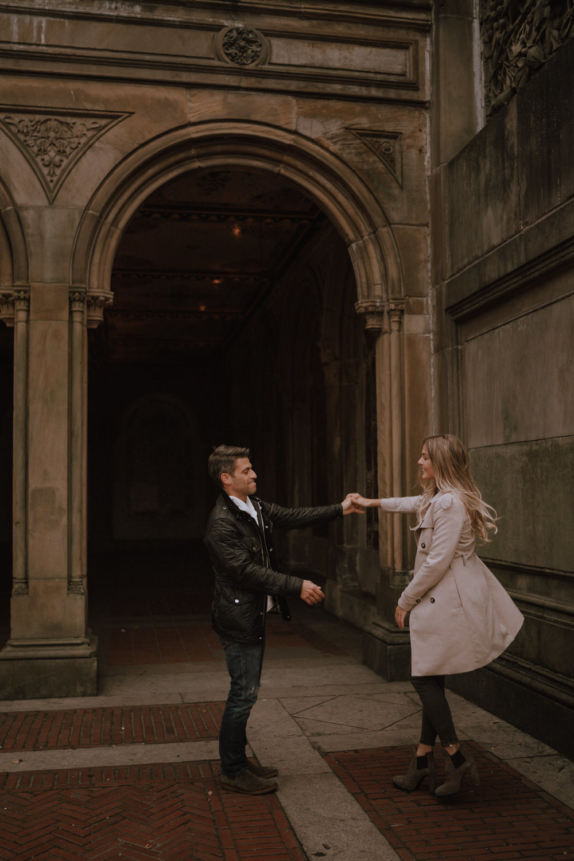 New York Engagement Photos- Bethesda Terrace- Central Park- Michelle Gonzalez Photography-147.JPG