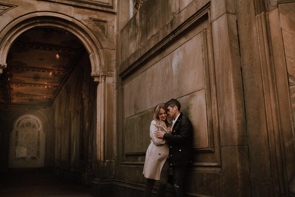 New York Engagement Photos- Bethesda Terrace- Central Park- Michelle Gonzalez Photography-183.JPG