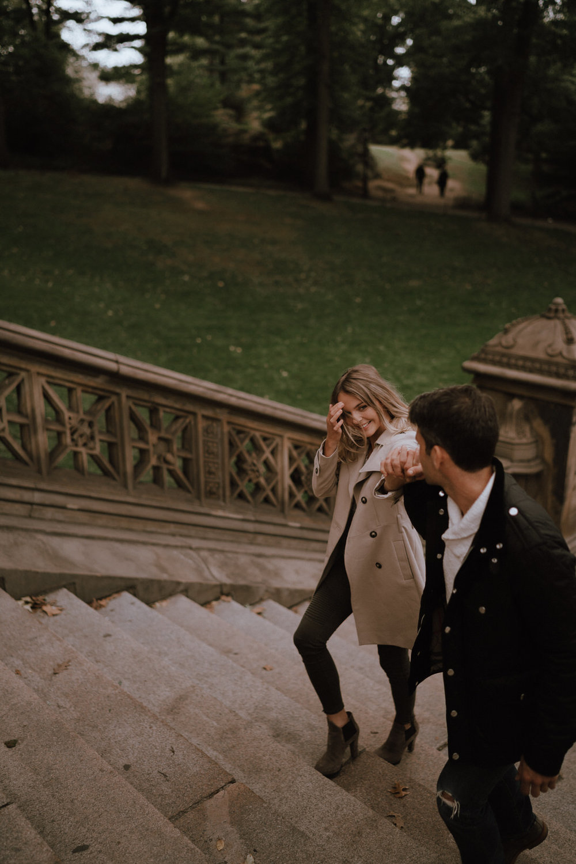 New York Engagement Photos- Bethesda Terrace- Central Park- Michelle Gonzalez Photography-193.JPG
