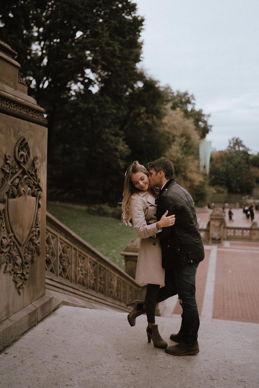 New York Engagement Photos- Bethesda Terrace- Central Park- Michelle Gonzalez Photography-208.JPG