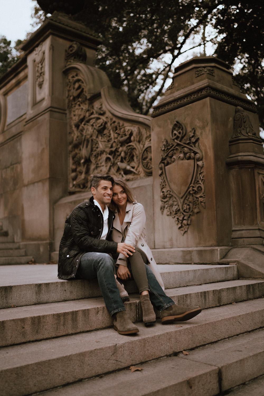 New York Engagement Photos- Bethesda Terrace- Central Park- Michelle Gonzalez Photography-268.JPG