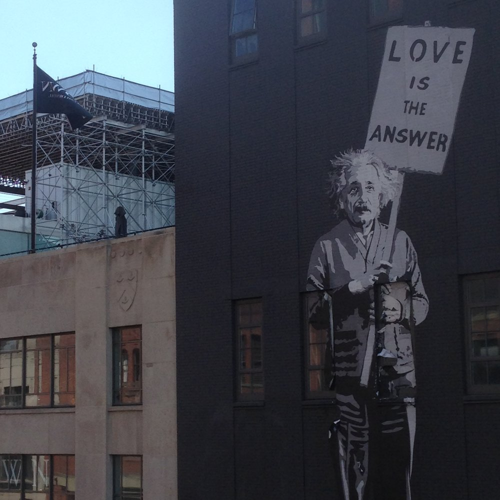 MY FAVORITE NYC MURAL - This is on the West Side by the High Line and Whitney Museum near 14th Street--luv it!!!