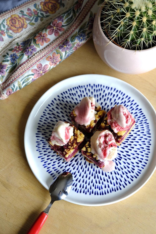 Prajitura cu visine Miez si inghetata homemade de fructe de padure_The Nature Project.JPG