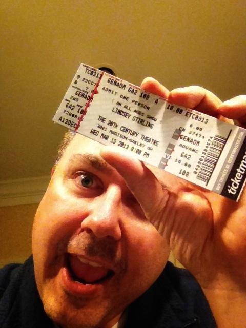 I know, a dumb pic! My ticket to the show!