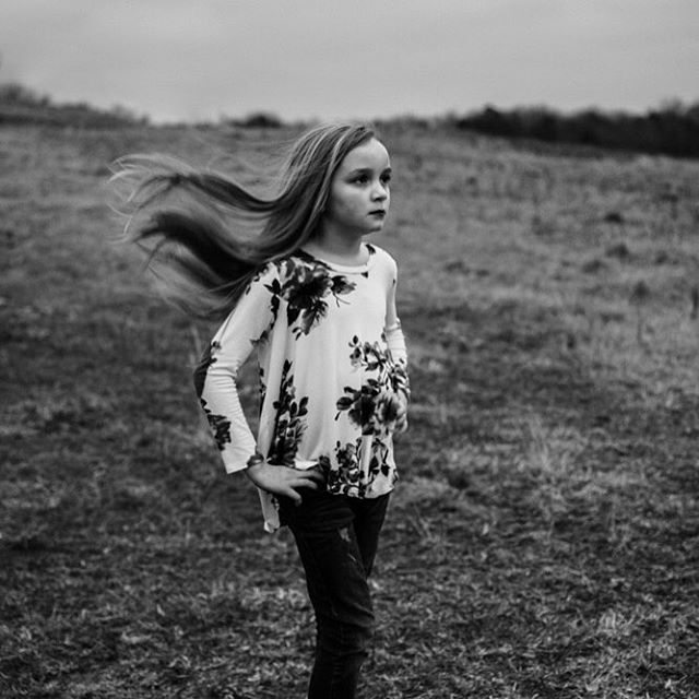 No one brushes my hair as well as the wind. -Alda Merini-  #portraitphotography #neice #windblown #monochrome #moody #motionblur