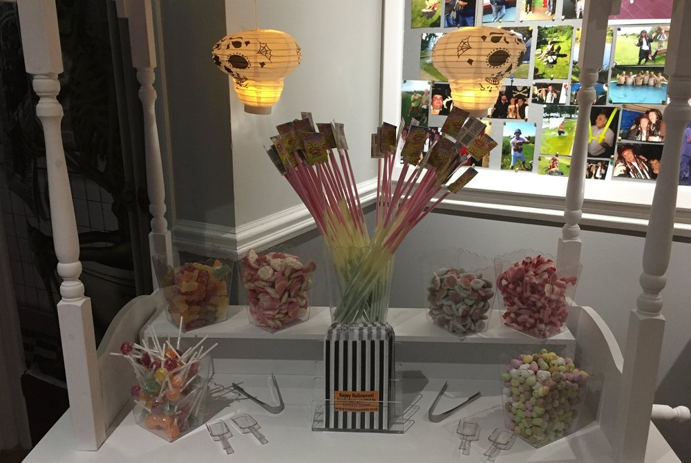 Our basic Candy Cart at Westgate United Servies Club Westgate, Kent