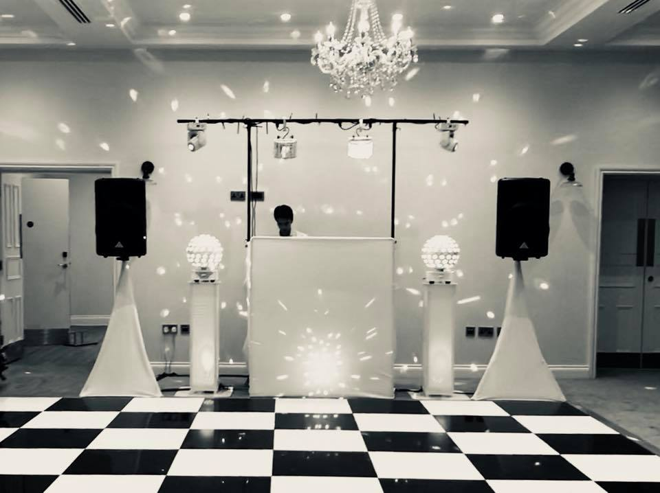 Our DJ set up ready to go at The Yarrow Hotel, Broadstairs, Kent