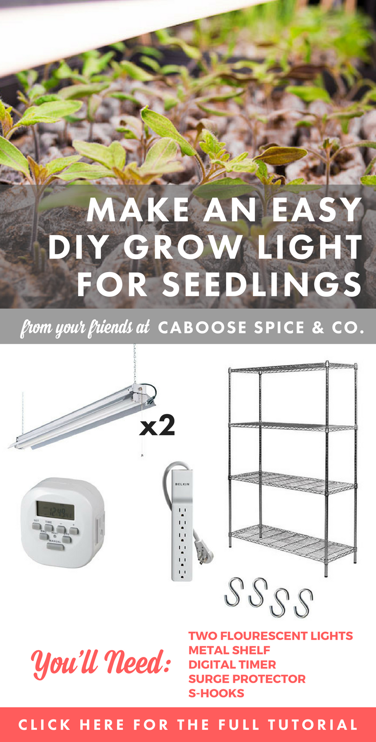 How To Build An Easy Diy Grow Light For Seedlings Around The Table Wiring Up Lights Tutorial
