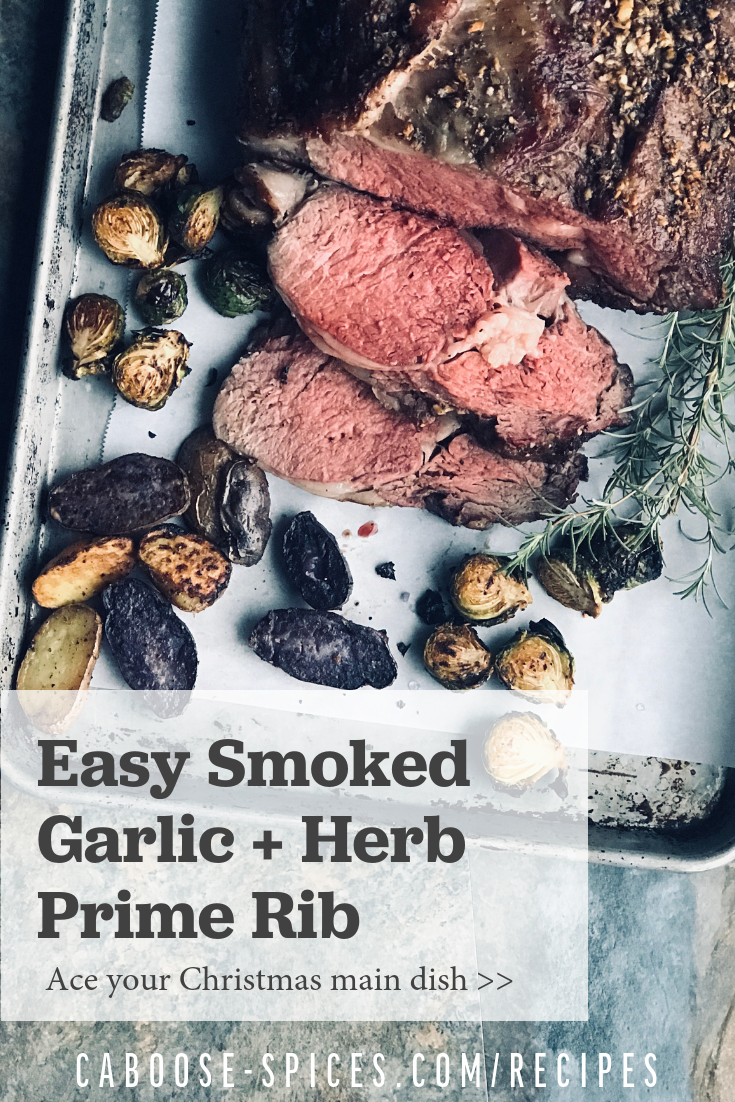 An easy prime rib recipe with garlic herb butter to impress your dinner guests