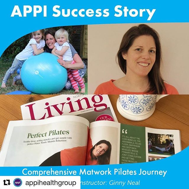 I'm lucky enough to have been featured on the APPI blog this week, go and have a 👀 • Repost @appihealthgroup It's time to meet another one of our fantastic instructors! Read all about Ginny Neal of @simplyperfectpilates ,one of our Comprehensive Matwork Pilates graduates and how she found her APPI Journey... https://www.appihealthgroup.com/Blog/APPI-Success-Story-Comprehensive-Matwork-Pilates-Journey