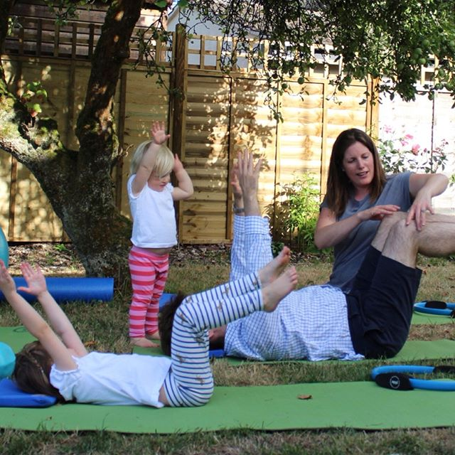 All together now! We're away, enjoying some family time - lots of swimming and even some tennis. Haven't quite managed to persuade everyone to partake in a group Pilates session yet though! #familypilates #holidaytime #andrelax