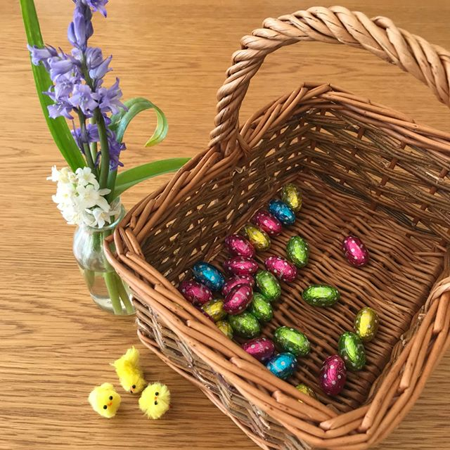 Happy Easter 🐣Hope you're having a lovely day! We're eating far too much chocolate in this house and getting ready for even more with the village Pre School Easter Egg Hunt tomorrow! #easteregghunt #toomuchchocolate #happyeaster