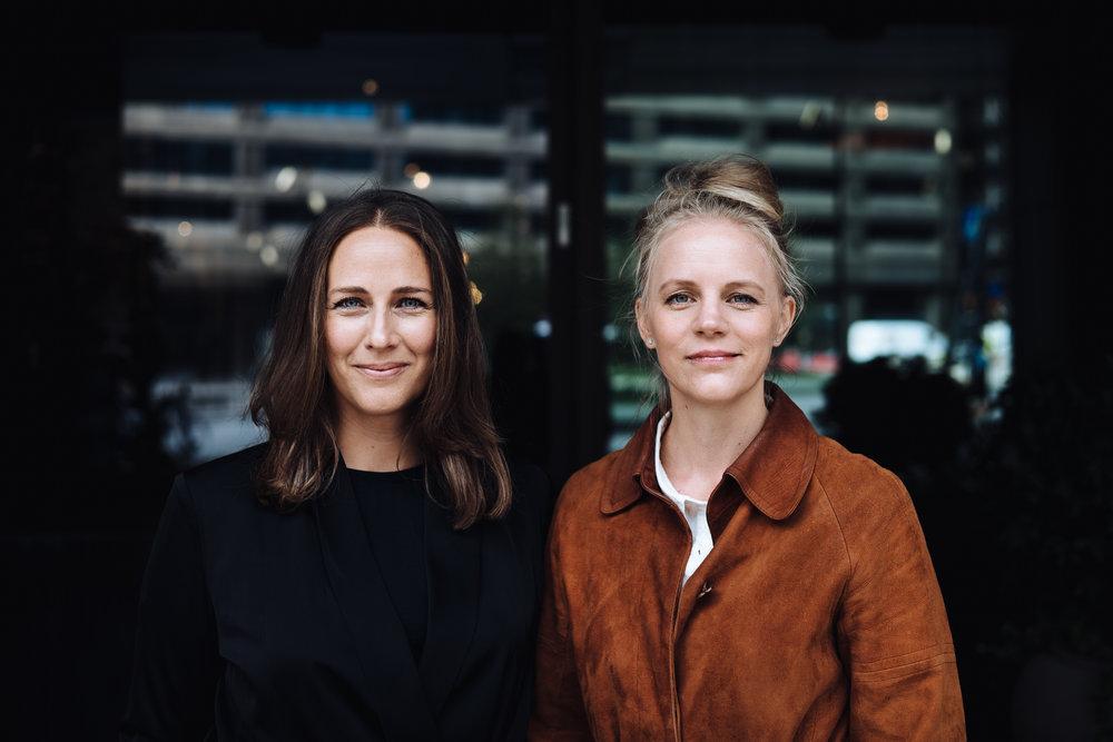 Elsa Lantz och Jenny Holmström. Fotograf:  Abraham Engelmark