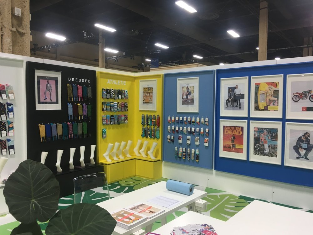 HAPPY SOCKSTRADE SHOW BOOTH   -