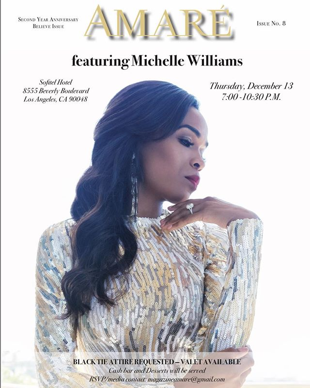 We are extremely excited to celebrate next week our #Stunning and #fearless #Cover with @michellewilliams and everyone that is in our second year anniversary! #BelieveIssue #AmaréMagazine #beverlyhills #celebrate #secondyearanniversary #Lifestyle #Empower #livethelifeyoulove