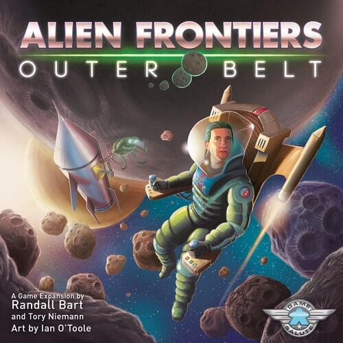 Do you dare explore beyond the edge of the frontier? Stake your claim to distant asteroids and gather resources, derelict ships, and new technology to help in your colonizations efforts. Outer Belt adds an all-new board to the game, complete with its own territory, new cards including the debut of the Asteroid card, and everything you need to add a sixth player to the game!