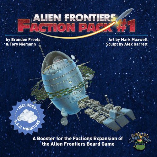 Add additional Factions to  Alien Frontiers ! Each Faction Pack contains one new Faction and new Alien Tech and Agenda cards to expand your stellar ambitions.