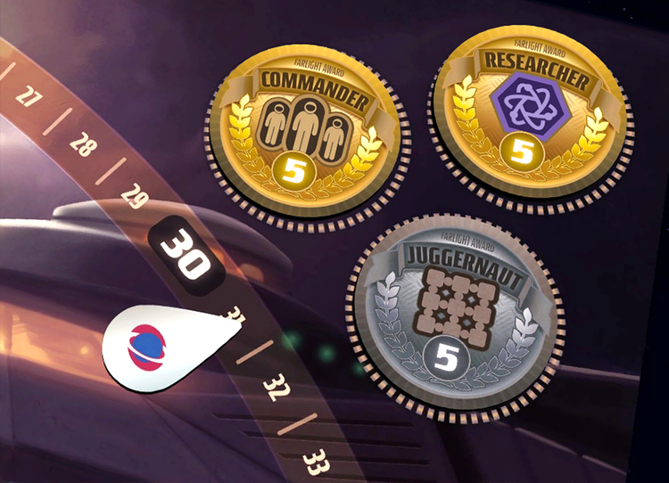 Win the game by completing missions or earning industry awards.