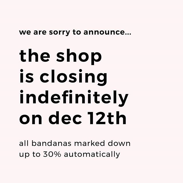 We are sorry to announce the shop is closing for good on December 12th. Bandanas have been marked down automatically up to 30%. It's been a wonderful year supported by all of your kindness, but unfortunately we no longer have the time to balance our work and personal lives with the shop, and give it the attention and time it deserves. This was a very difficult decision for us, and we hope you all will be supportive of it. We are disheartened to be leaving such a wonderful community of dog lovers. 💕 Courtney + Mia