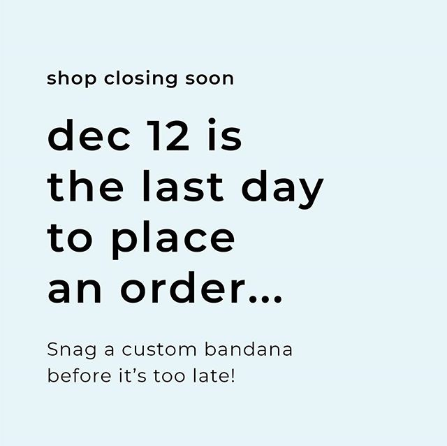 Just a reminder that December 12th is the last day we will be taking orders. Our stock is running out quickly, so if you're still planning on ordering, the sooner the better! 💕 This is one of the highest order influxes we've had this year, and we appreciate all of your love and support throughout this transition 😘