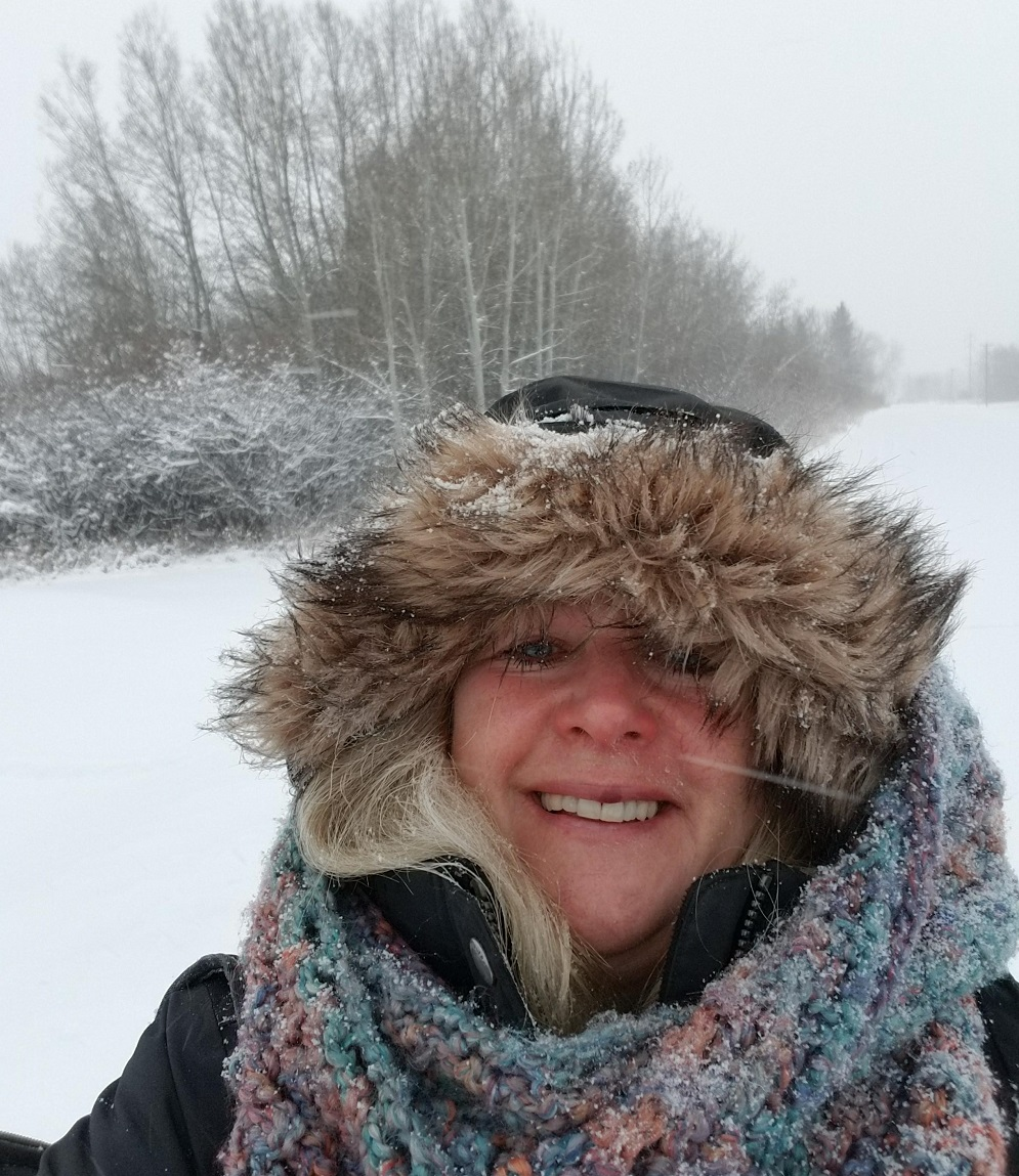A walk on a cold winters day in Turner Valley, Alberta Canada