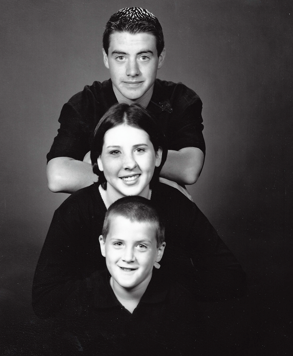 Daniel (13), Lindsay (14) and Matthew (9) 1998