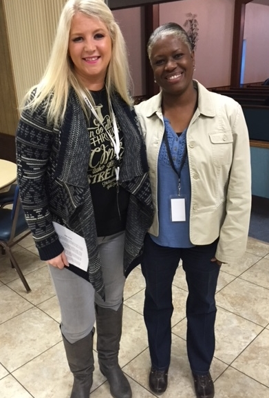 RecoveryChicks in Prison! Pastor Cynthia and Shenika serving side-by-side with Mike Barber Prison Ministries, 2015