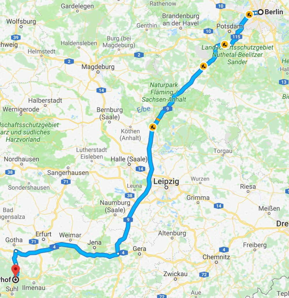 Karte Oberhof