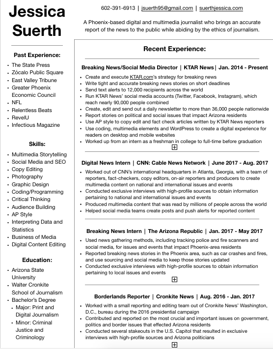 Resume — Jessica Suerth