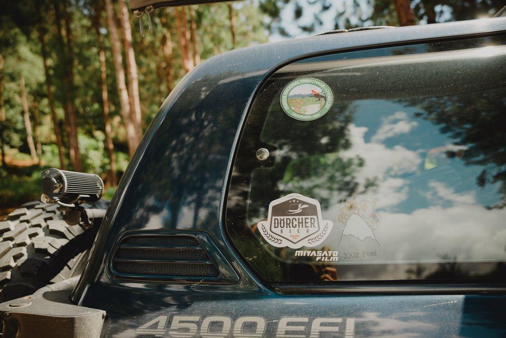 detalle de camioneta en oxapampa