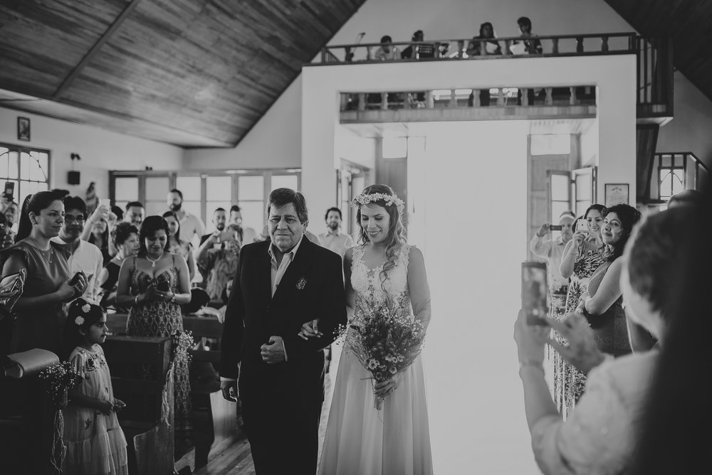 novia camino al altar