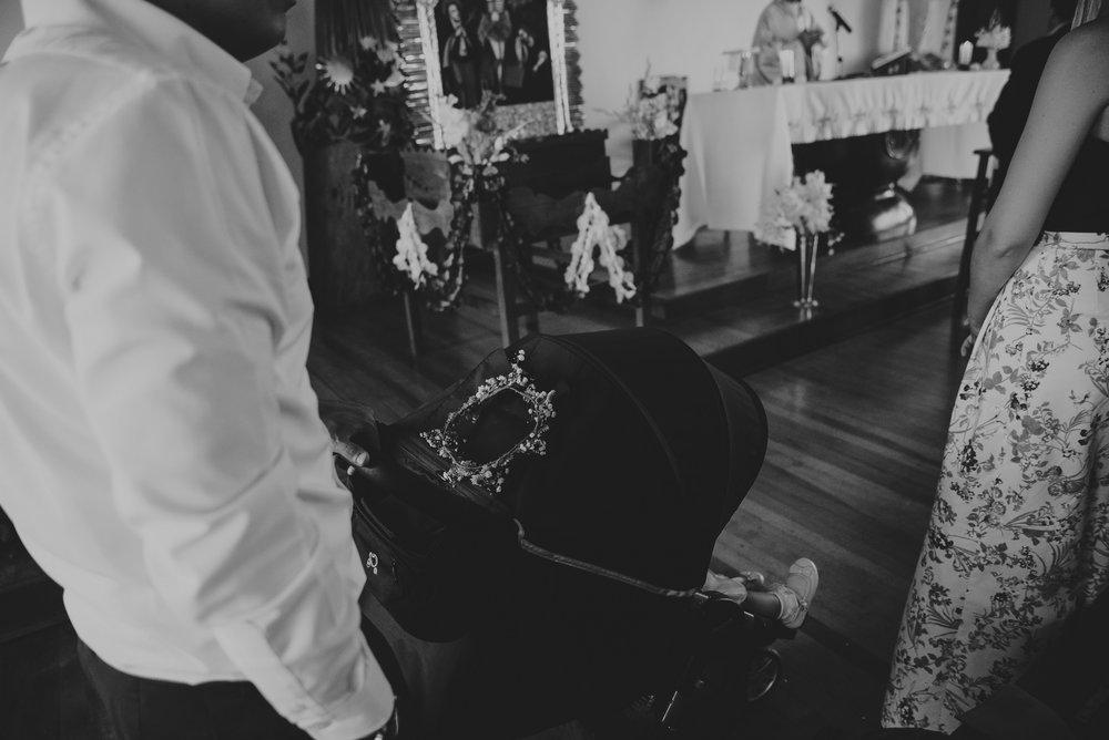 carro de bebe en una boda