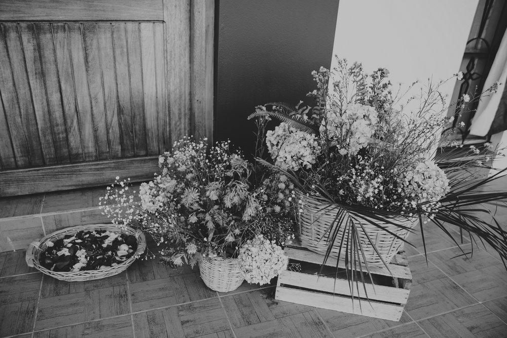 detalle de arreglos de flores