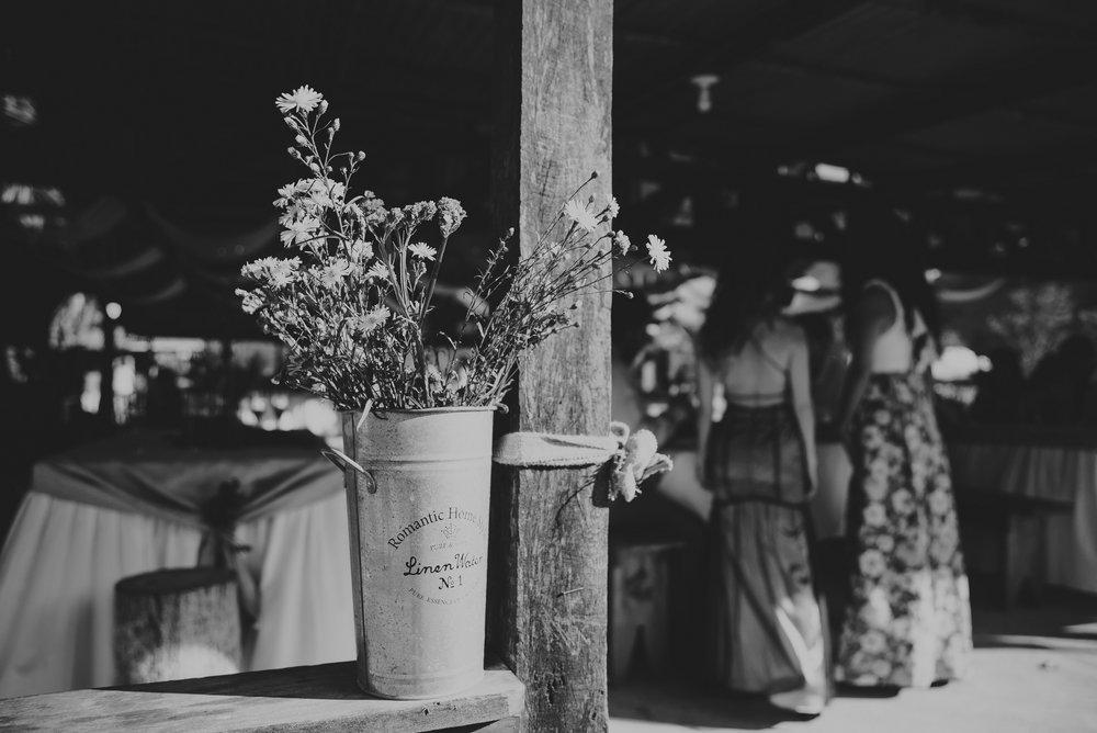 detalles de decoracion en la boda