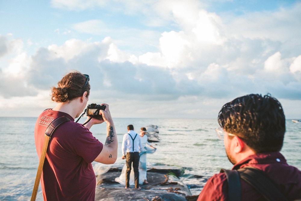 fotografo trabajando en workshop de fotografia