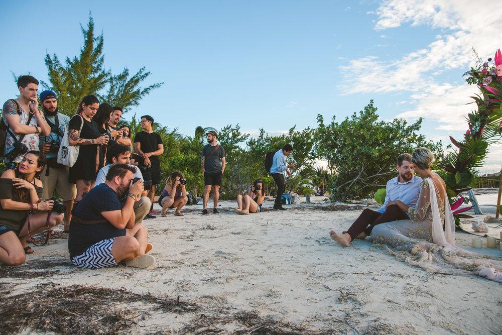 grupo de fotografos en taller con serafin castillo