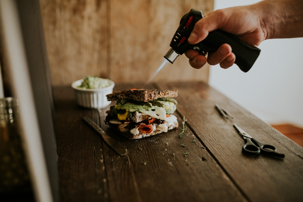 Soplete fotografia gastronomica bodas