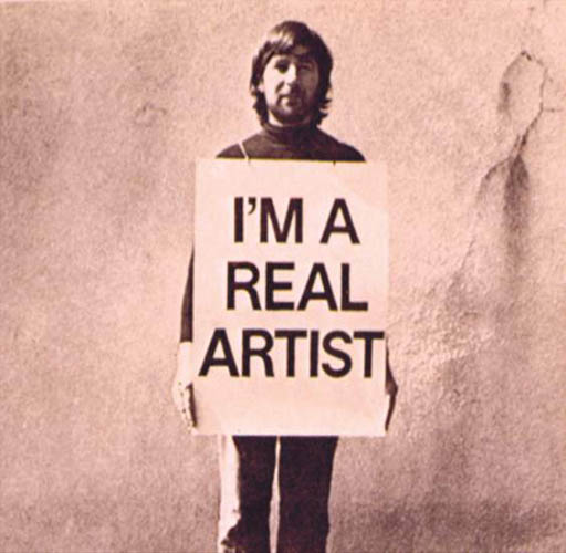 Keith Arnatt,  Trouser Word Piece , 1972, black-and-white photograph.