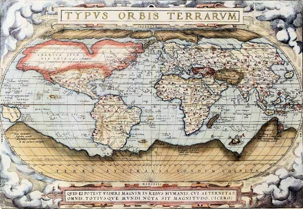 Abraham Ortelius,  Ortelius World Map , 1570