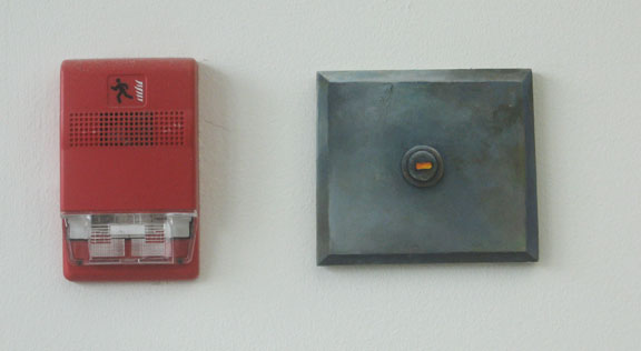 David Lefkowitz,  Fixtures , oil on wood, installed at Rochester Art Center.
